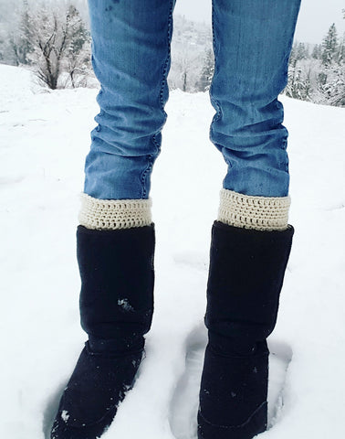 crochet boot warmers off white cream rachel allison shop