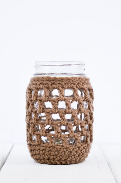 nautical mason jar cover brown