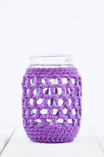 nautical mason jar cover purple