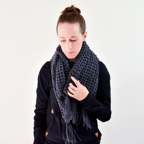 Sailor's Net Scarf - Charcoal Grey - rallisonshop