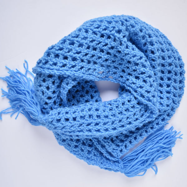 sailors net scarf - blue - rallisonshop