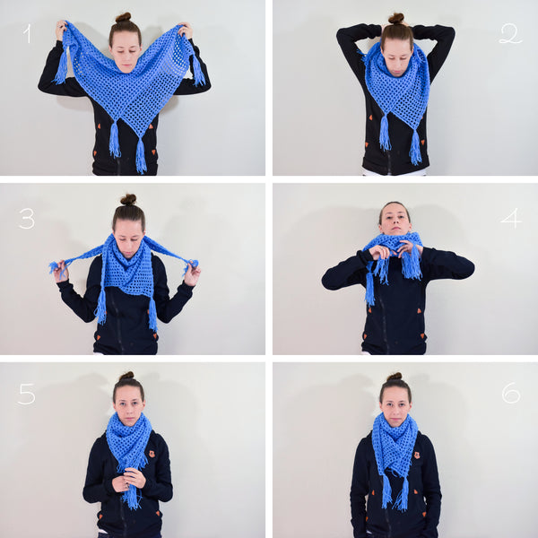 Sailor's Net Scarf | Blue