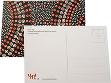 A postcard design by Indigenous artist Remy Fry titled Bala Wungarr Eel