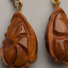 Jewellery - Carved wongai seed earrings by Indigenous artist Joel Sam
