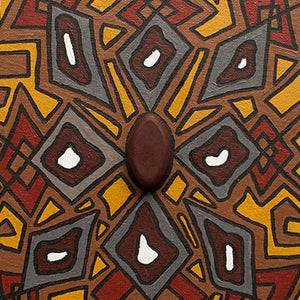 Artefact - shield design by Indigenous artist Napoleon Oui