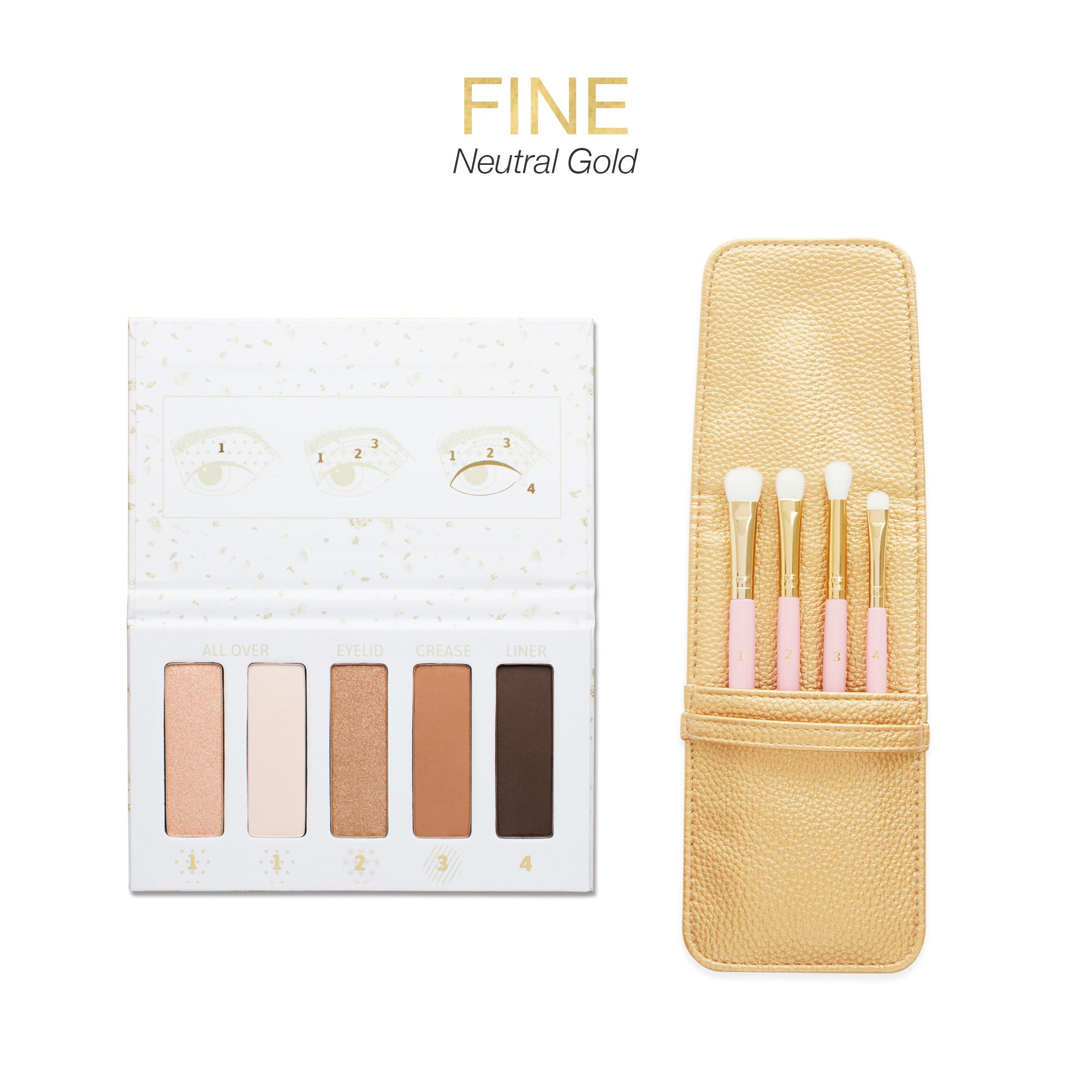 VIP FLEKK Eye Shadow Palette and Brush Set