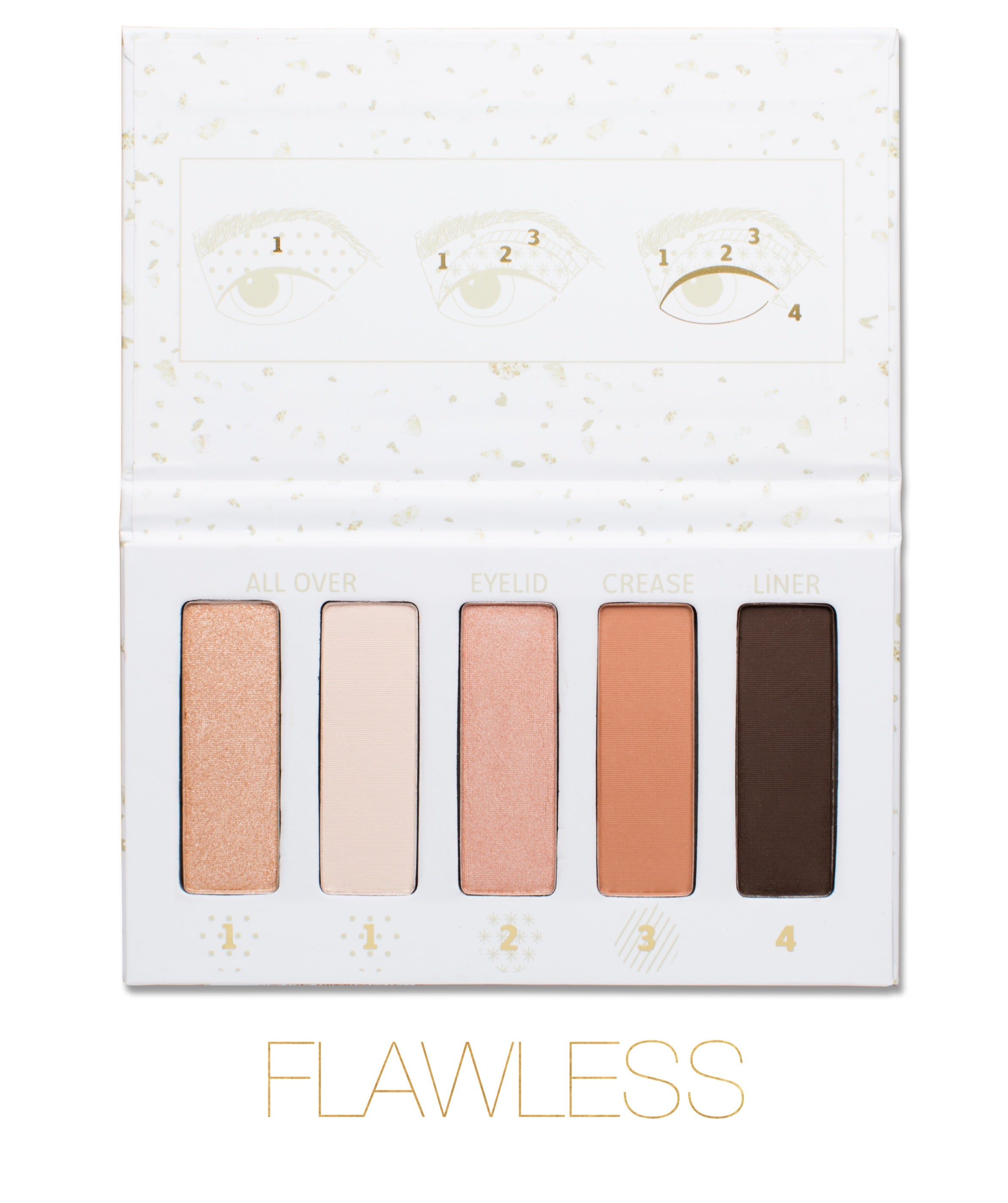 FLEKK Eye Shadow Palette and Brush Set