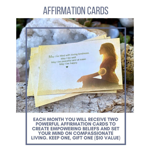 Each month you will receive an affirmation card