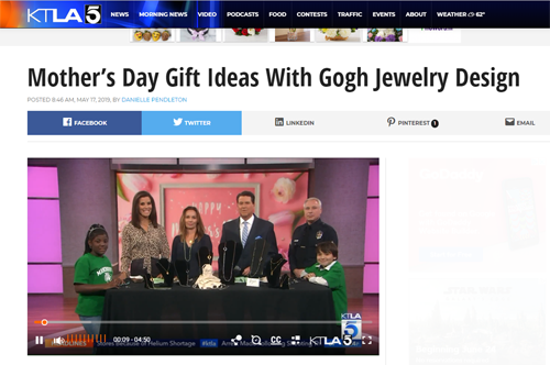 Gogh Jewelry Design featured on KTLA Morning News