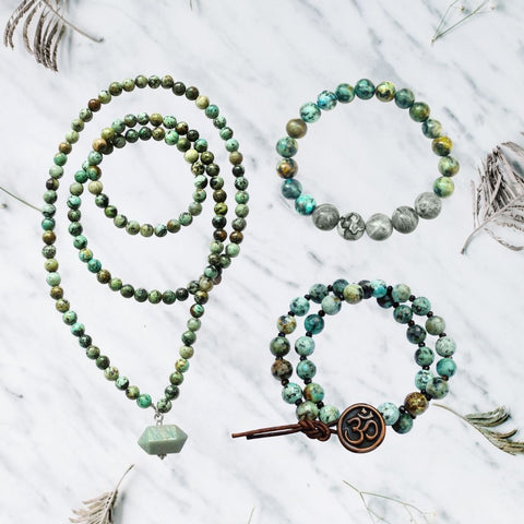Self-Realization Set: Manifest Good Fortune with African Turquoise