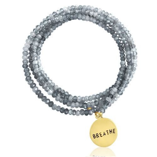 BREATHE Wrap Bracelet with Labradorite to bring amazing Changes in Your Life
