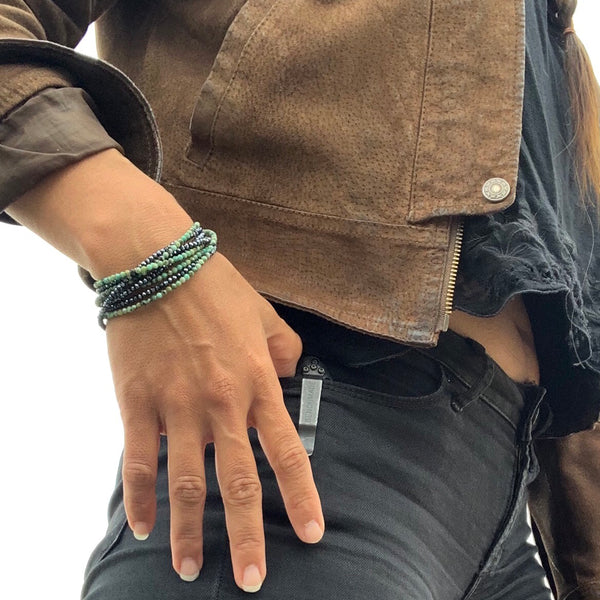 Enjoy the Journey and Ocean Beauty Wrap Bracelet with Abalone