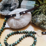 Serenity African Turquoise  Breathe Necklace to Remind you to Enjoy the Journey