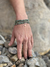 Enjoy the Journey - African Turquoise Wrap Bracelet with Rose Gold Compass Charm