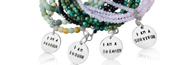 Affirmation Wrap Bracelet Combo: I am a Survivor, I am a Warrior, I am a Dreamer, I am Enough.