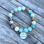 I am a Warrior - Affirmation Bracelet with Amazonite. We all have to fight for something in life.