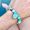I am a Warrior - Affirmation Bracelet with Amazonite
