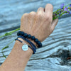 I am Enough - Affirmation Wrap Bracelet Combo with Lava Stone for Aromatherapy