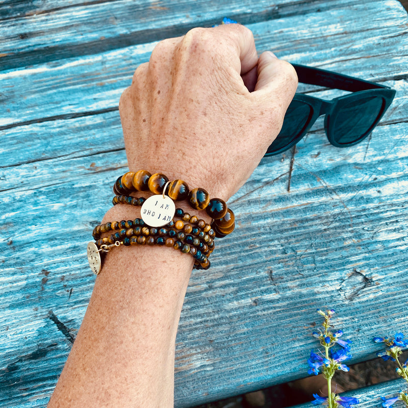 o I am - Affirmation Bracelet with Tiger Eye. To be yourself in a world that is constantly trying to make you something else is the greatest accomplishment.