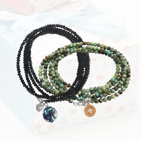 Ocean Themed Jewelry Wrap Bracelet Holiday Set