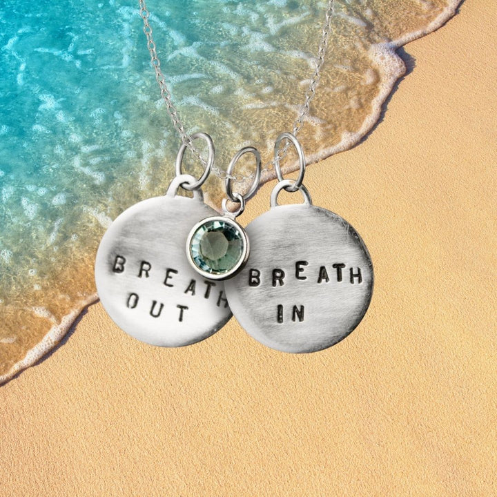 Breath In - Breath Out Necklace: Jewelry to become calm, centered, and energized