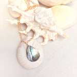 Gold Abalone Shell Necklace from the Pacific Ocean