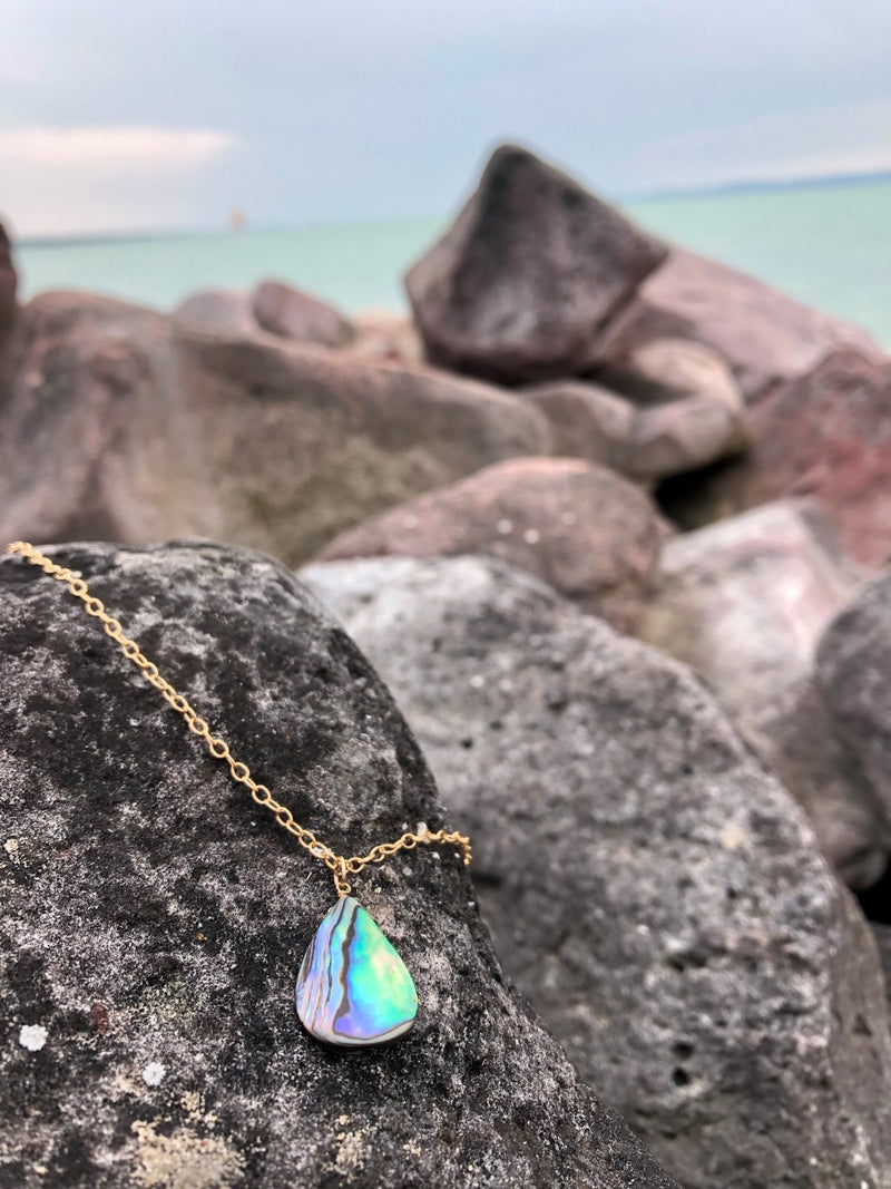 Abalone Shell Necklace from the Pacific Ocean