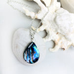 Silver Abalone Shell Necklace from the Pacific Ocean