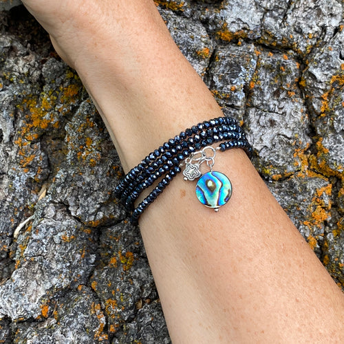 Ocean Beauty Wrap Bracelet with Abalone