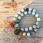 Amazonite Wrap Bracelet with Anchor to Help Keep a Clear Mind.