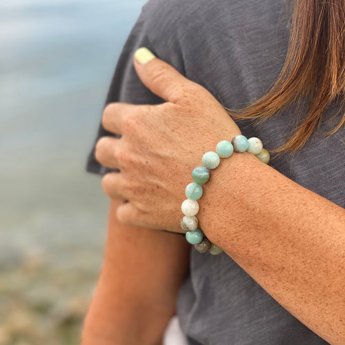 Amazonite Bracelet to Move Beyond Fear