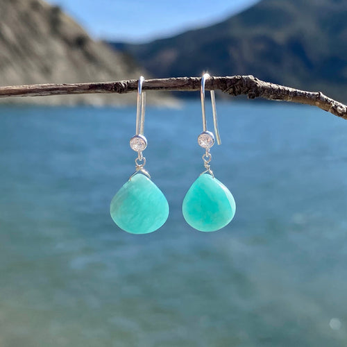 Amazonite Earrings for Courage and to Create a Feeling of Power Within You