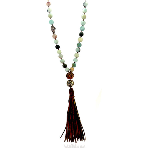 Amazonite Tassle Necklace to Create a Feeling of Power Within