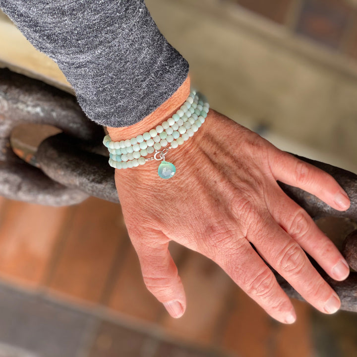 Amazonite Wrap Bracelet to Create a Feeling of Power Within You - Jewelry to Move Beyond Fear