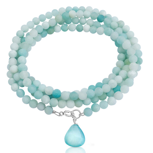 Amazonite Wrap Bracelet to Create a Feeling of Power Within You and to Move Beyond Fear.