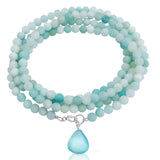 Amazonite Wrap Bracelet to Create a Feeling of Power Within You and to Move Beyond Fear. It is almost like you can feel the power of the Amazon running through this crystal.