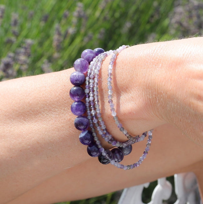 Calming and Stress Relief Amethyst Bracelet