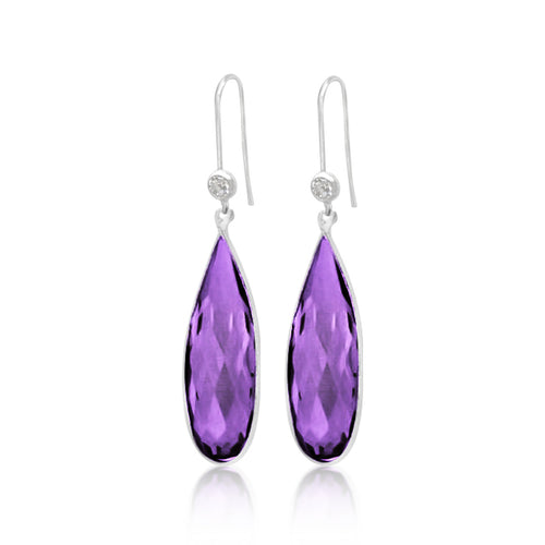 Amethyst Earring to Help Cope with Stress