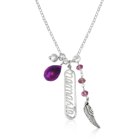 Breath In - Breath Out Necklace with Amethyst for Calming