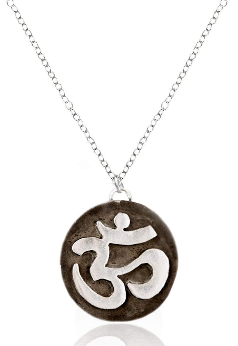 Sterling Silver Ohm Meditation Necklace