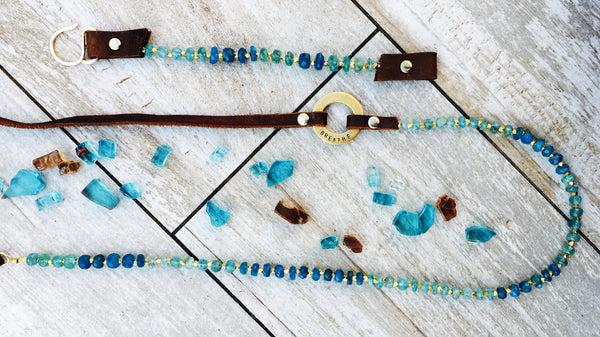 Serenity Apatite Breathe Necklace to Fine-Tune Your Attunement with Humanity