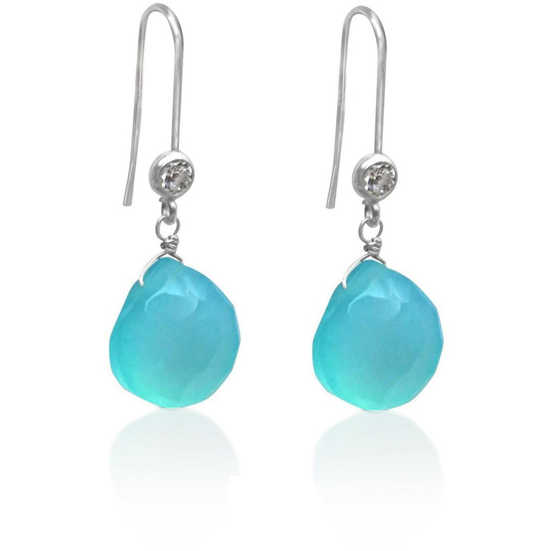 Sterling Silver Aquamarine Earring for Courage