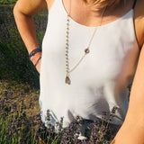 Asymmetrical Smoky Quartz Necklace to Remove Negativity