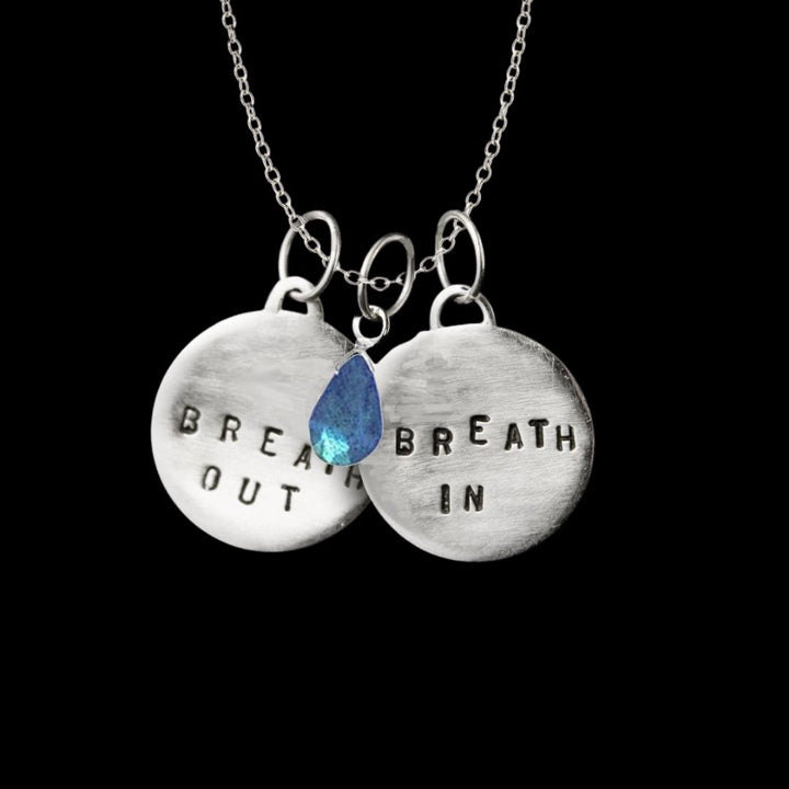 Necklace for Depression: Breath In - Breath Out Reminder with Labradorite bringing a Positive Change in Your Life