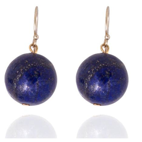 Blue Marble Ocean Blue Gratitude Gold Plated Earrings