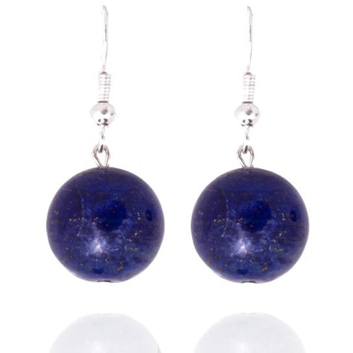 Blue Marble Ocean Blue Gratitude Silver Earrings