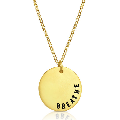 BREATHE Gold Filled Necklace