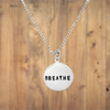 Sterling Silver Small BREATHE Necklace