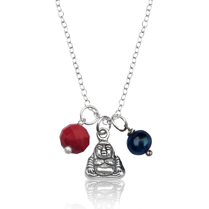 Tiny Buddha Charm Necklace