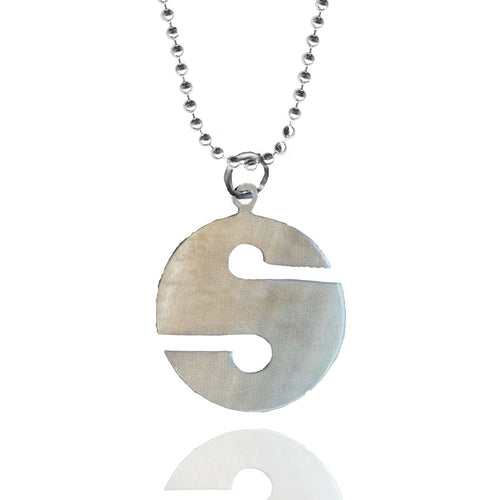 Sterling Silver Exploration Cave Diver - Line Cookie Necklace